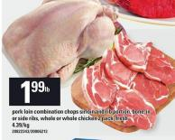 Pork Loin Combination Chops Sirloin And Rib Portion - Bone-in Or Side Ribs - Whole Or Whole Chicken 2 Pack - Fresh