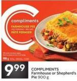 Compliments Farmhouse or Shepherd's Pie