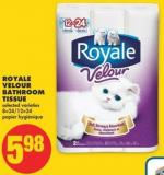 Royale Velour Bathroom Tissue - 8=24/12=24