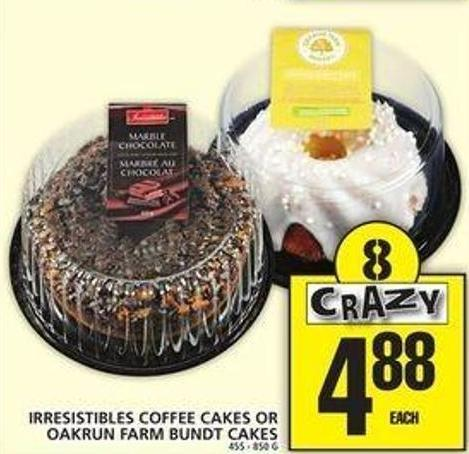 Irresistibles Coffee Cakes Or Oakrun Farm Bundt Cakes