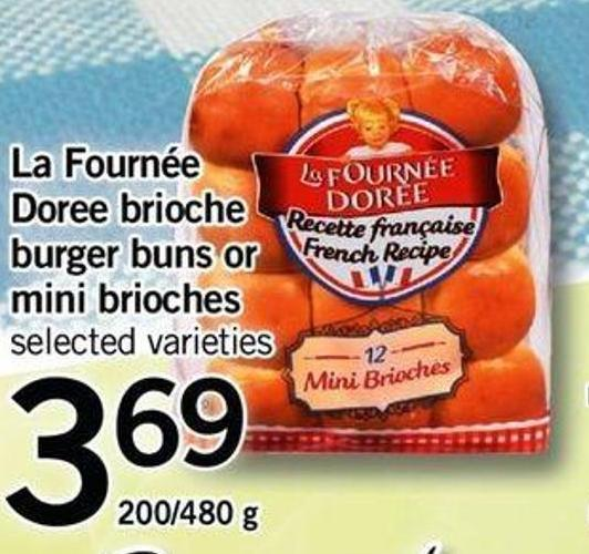 La Fournée Doree Brioche Burger Buns Or Mini Brioches - 200/480 G