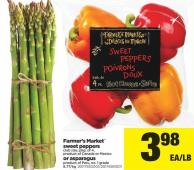 Farmer's Market Sweet Peppers - Club Size - Pkg of 4 or Asparagus