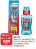 Colgate Maxfresh Toothbrush (1's) - Total Toothpaste (70ml) or Mouthwash (250ml)