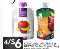 Love Child Organics or Nestlé Gerber Organic Baby Food