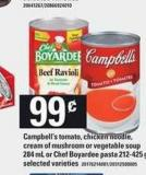 Campbell's Tomato - Chicken Noodle - Cream Of Mushroom Or Vegetable Soup 284 Ml Or Chef Boyardee Pasta - 212-425 g