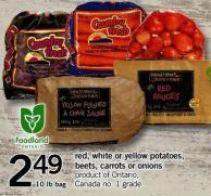 Red - White Or Yellow Potatoes - Beets - Carrots Or Onions - 10 Lb Bag