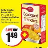Betty Crocker Potato Mix 141-215 g or Hamburger Helper 158-233 g