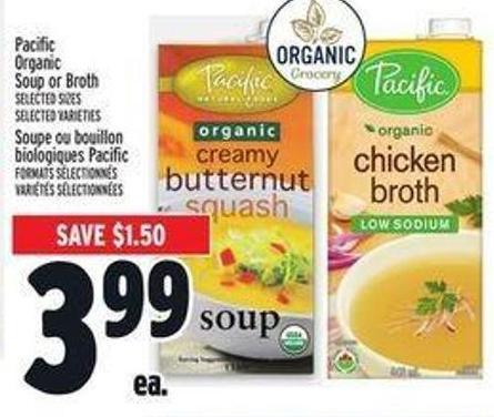 Pacific Organic Soup Or Broth