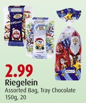 Riegelein Assorted Bag - Tray Chocolate 150g - 20