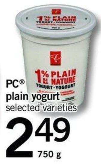 PC Plain Yogurt - 750 G