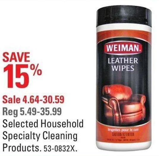Selected Household Specialty Cleaning Products