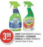 Shout Stain Remover (650ml) - Fantastik or Scrubbing Bubbles Cleaning Products