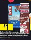 Neilson Chocolate Or Strawberry Milk - 1 L - Milk2go Milk Or Neilson Shakes - 310 mL - Clif Bar - Larabar Or Luna Bar - 45-68 g