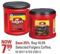 Selected Folgers Coffee