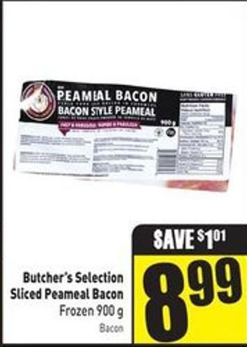 Butcher's Selection Sliced Peameal Bacon Frozen 900 g