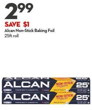 Alcan Non-stick Baking Foil 25ft Roll