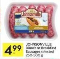 Johnsonville Dinner or Breakfast Sausages