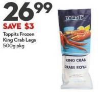 Toppits Frozen King Crab Legs