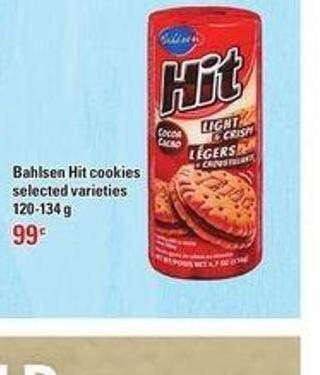 Bahlsen Hit Cookies - 120-134 g