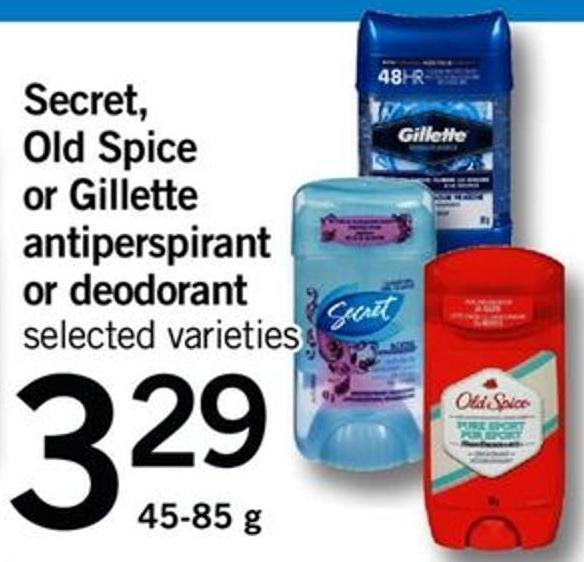 Secret - Old Spice Or Gillette Antiperspirant Or Deodorant - 45-85 G