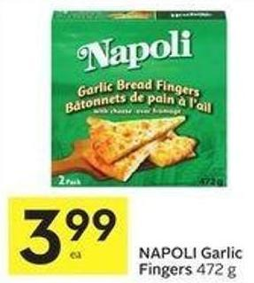 Napoli Garlic Fingers 472 g