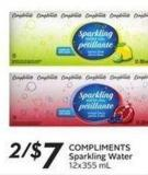 Compliments Sparkling Water 12x355 mL