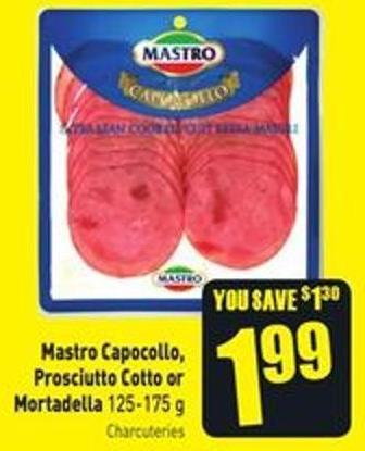 Mastro Capocollo - Prosciutto Cotto or Mortadella 125-175 g