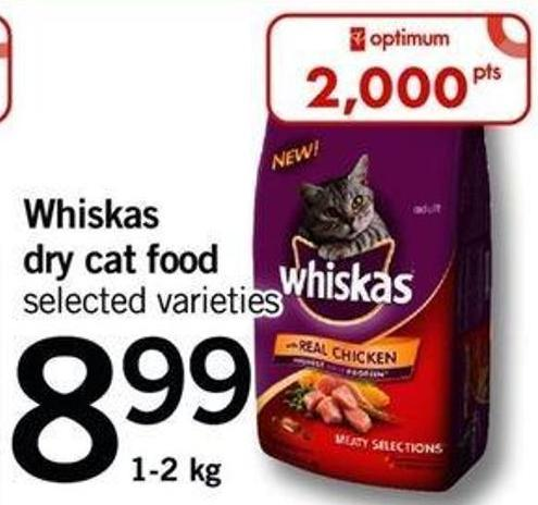 Whiskas Dry Cat Food - 1-2 Kg