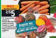 PC Creamy Golden Potatoes Or Rainbow Mix Beets - 907 G Or Sweet Nantes Carrots 454 G