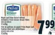 Maple Leaf Prime Raised Without Antibiotics Fresh Chicken Breast Fillets