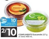 Compliments Guacamole 227 g or Salsa 488 mL - 10 Air Miles Bonus Miles