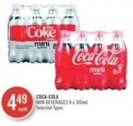 Coca-cola Mini Beverages 8 X 300ml