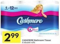 Cashmere Bathroom Tissue 6 Double Rolls