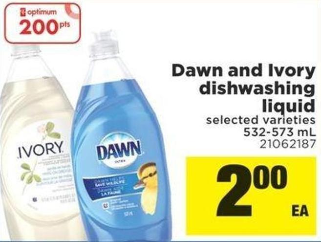 Dawn And Ivory Dishwashing Liquid - 532 – 573 Ml