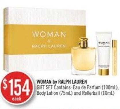 Woman By Ralph Lauren Body Lotion (75ml) and Rollerball (10ml)