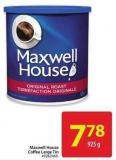 Maxwell House Coffee Large Tin