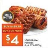 100% Butter Pastries 4 Pk 275-400 g