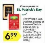 Kerrygold Irish Dubliner - Blarney or Reserve Cheddar Cheese