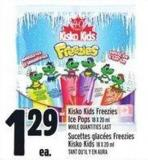 Kisko Kids Freezies Ice Pops 18 X 20 ml