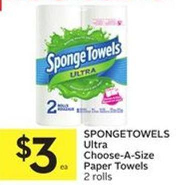 Spongetowels Ultra Choose-a-size Paper Towels 2 Rolls