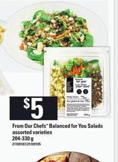 From Our Chefs Balanced For You Salads - 204-330 G