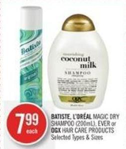 Batiste - L'oréal Magic Dry Shampoo (200ml) - Ever or Ogx Hair Care Products
