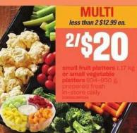 Small Fruit Platters - 1.17 Kg Or Small Vegetable Platters - 934-950 G