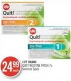 Life Brand Quit! Nicotine Patch 7's