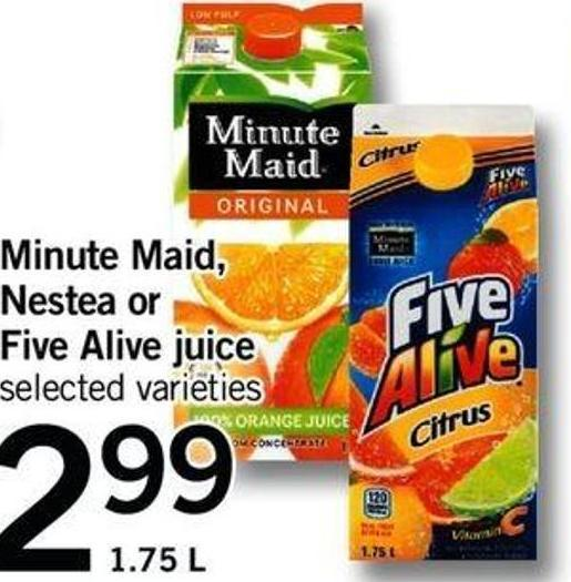 Minute Maid - Nestea Or Five Alive Juice - 1.75 L
