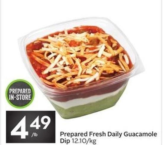 Prepared Fresh Daily Guacamole Dip