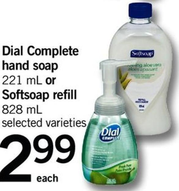 Dial Complete Hand Soap - 221 Ml Or Softsoap Refill - 828 Ml