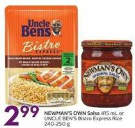 Newman's Own Salsa 415 mL or Uncle Ben's Bistro Express Rice 240-250 g