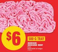 Medium Ground Beef - 500 G Tray