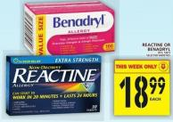 Reactine Or Benadryl